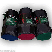 "50 Degree Fleece Sleeping Bag Burgundy 32""x75"" Camping Survival Emergency"