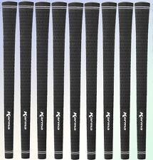 9 (nine) NEW Karma Black Velvet Standard Men Size Golf Grips