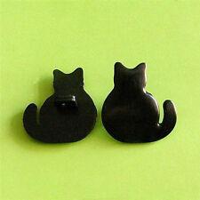 15 Back Side Cat Doll Kid Sew Buttons Black 18mm K366