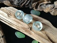 Glass Dreadlock Beads 3x Pale Aqua 5mm Hole Stunning Piezoelectric Glass Ceramic