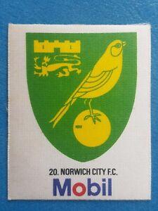Mobil Football Club Badges Silk 1983 Norwich City