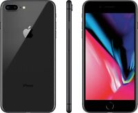 NEW GRAY VERIZON GSM UNLOCKED 64GB APPLE IPHONE 8 PLUS PHONE JS57 B