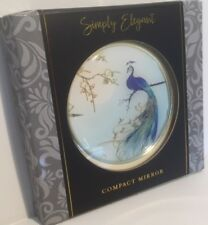 Simply Elegant Peacock Blue Double Compact Mirror