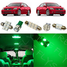 9x Green LED lights interior package kit for 2002-2006 Nissan Altima NA5G