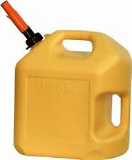 MIDWEST 5 GALLON YELLOW PLASTIC EPA COMPLIANT  POLY DIESEL FUEL CONTAINER 8600