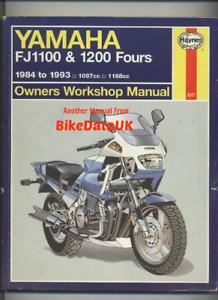 Yamaha FJ1100 FJ1200 (84-93) Haynes Repair Manual Book FJ 1100 1200 inc-ABS CY91