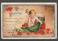 """[56637] 1911 POSTCARD ARTIST UNSIGNED ELLEN H. CLAPSADDLE """"TO MY VALENTINE"""""""