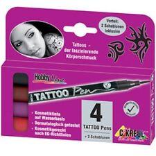 C.Kreul Hautstift Tattoo Pen Hobby Line, 4er Set, 4 Tattoo Stifte henna