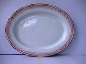"""Antique Royal Worcester Pottery Charger Platter Large Dish Biryani Plate Meat """"3"""