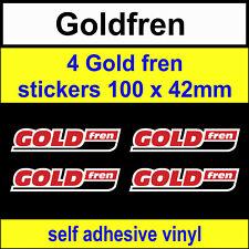 4 Gold Fren sponsor stickers 100mm Goldfren scooter bike motorcycles car decals