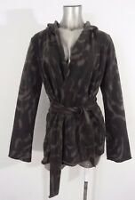 Lucky Brand women's loose-fit wrap belted jacket gray L