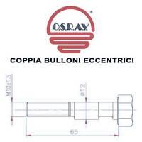 COPPIA BULLONI ECCENTRICI AMMORTIZZATORI LANCIA Y 95> / YPSILON 03> CAMPANATURA