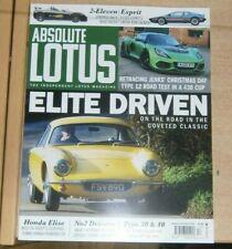 Absolute Lotus Magazine #16 Nov/dec 2020 Low MILEAGE Sport 160 & High Miles S1