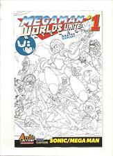 Archie Comics  MEGA MAN Worlds Unite Battles   #1B Sketch Variant Edition