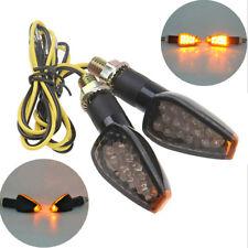 14LED Motorcycle Turn Signal Lamp Amber Light Indicator Universal 12V _S