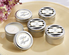 48 Personalized Classic Round Candle Tins Bridal Shower Wedding Favors