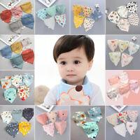 Baby Feeding Bibs 5 Pcs/Pack Triangle Infant Scarf Towel Bandana Saliva