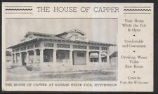 Postcard HUTCHINSON KS  State Fair House of Capper Pavilion & Crapper 1910's