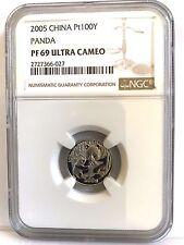 China 2005 100 Yuan 1/10 oz Platinum Panda NGC PF69UC C# 2727366-027