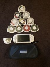 Sony PSP 2001 Silver Handheld System- 10 Games!