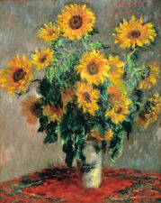 Sunflowers - Claude Monet - Fine Art Giclee Print Poster (Various Sizes)