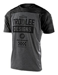 Troy Lee Designs MTB Men's Skyline Jersey SS Camber - Camo Htr Lt Gray / Black
