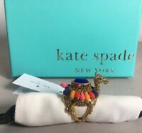 Kate Spade Gold Metal CAMEL Embellished Ring SIZES 6,7,8 - New With Tags In Box