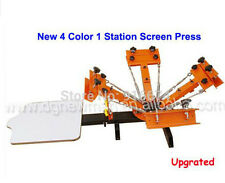 New Upgraded 4 color 1 station Silk Screen Printing Machine Q