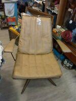 VINTAGE HomeCrest Mid Century Modern Wire Metal Swivel Chair Patio  MCM square