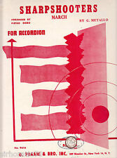 Sharpshooters March SHEET MUSIC for Accordion
