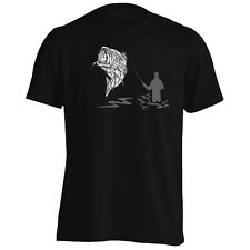 Fisherman Captain Sea Bass Fish  Men's T-Shirt/Tank Top e111m