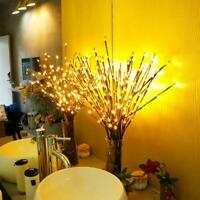 20 LED Decorative Twig Branch Fairy Lights with Flowers Effect For Home Lighting