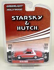 Starsky Hutch Model Diecast Car Ford Gran Torino 1976 Greenlight Scale 1/64