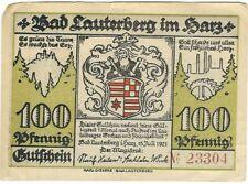 Notgeld - Stadt Bad Lauterberg i. Harz - 100 Pfennig 1921