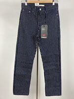 New Levi's Wedgie Straight Fit Jeans Denim Women's 27x28 Pinstripe High Rise