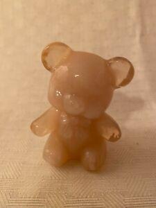 Boyd Crystal Art Glass Company Fuzzy Teddy Bear - 9 Colors to Choose 1983-1988