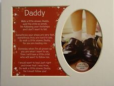 """""""Daddy""""Keepsake photo mount to fit 8"""" x 10"""" Bedroom Living Room Home Study"""