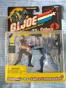 GI Joe vs Cobra Duke / Cobra Commander 2-Pack 2001 Hasbro
