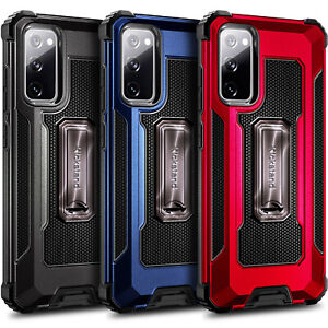 For Samsung Galaxy S20 FE 5G Case Built-in Kickstand Cover with Screen Protector