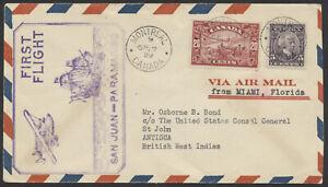1929 Montreal to St John's Antigua, Sept 20 FAM 6 Extension Flight, AAMC #2951