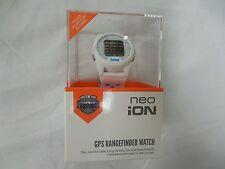 New 2016 Bushnell Neo iON Golf GPS Rangefinder Watch White & Blue Range finder