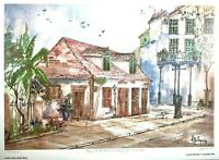 """Lafitte's Black Smith"" New Orleans LA, By Lucretia Restrepo Signed & Numbered"