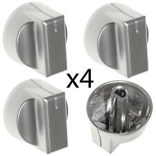 STOVES SN60FP HAP0050 SN70FP HAP0030 Oven Hob Switch Knob Nickel / Silver x 4