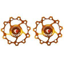KCNC AL7075 Jockey Wheels Bike Bicycle Rear Derailleur Pulley 11T - Gold