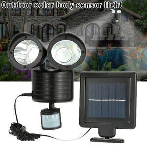 22 LED Solarlampe Solarleuchte Außen Solarstrahler mit Bewegungsmelder Licht DHL