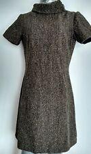 HOBBS shift dress size 12 --MINT--Knee length Wool Blend lined short sleeves