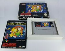 The Simpsons Bart's Nightmare Super Nintendo Game PAL Box Manual Retro SNES