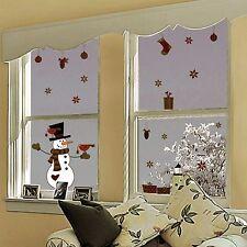 Fenstersticker Fensterfolie Fensterbild Winter Weihnachten Schneemann