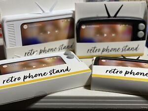 Retro iPhone Stand TV Target Bullseye White Or Black Playground Vintage Look 📺