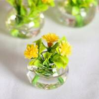 1:12 Dollhouse Miniature Green Potted For Home Decor Simulation Potted Plants !!